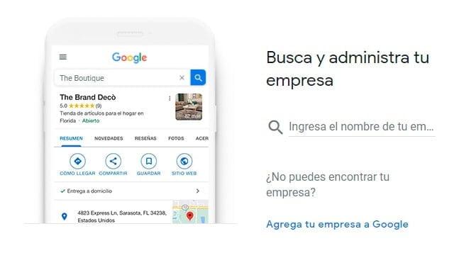 Agrega tu empresa a Google Mi Negocio.
