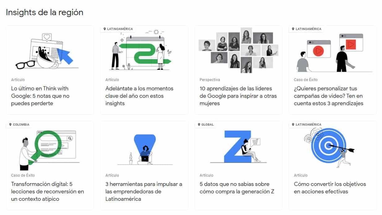 insights de la región de Think with Google