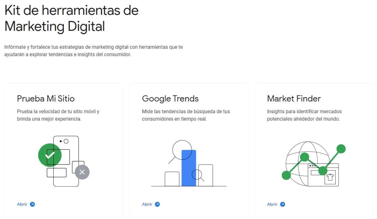 herramientas de marketing digital Think with Google