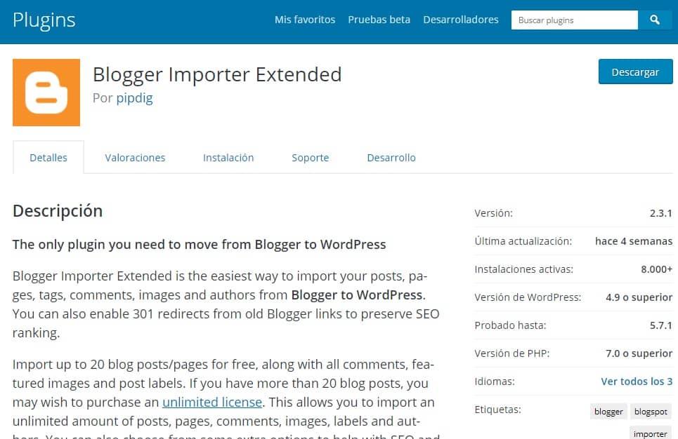 Migrar tu Blogger a WordPress