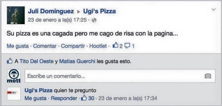 Ugi's pizza El marketing y las redes sociales