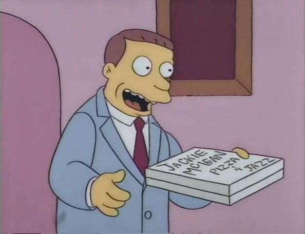 productos Lionel Hutz meme marketing tipos de producto perfecto, no había pizza
