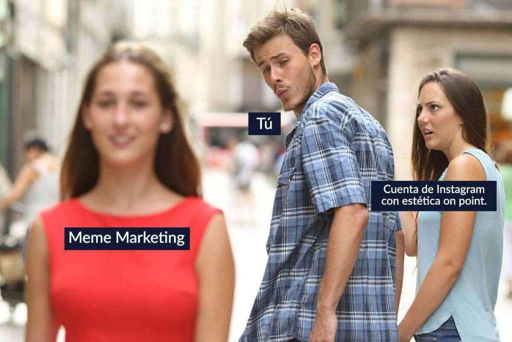 meme marketing inbound cuenta instagram con estétitca on point